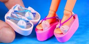 Fazendo sapatinhos para bonecas tipo Barbie, que legal!