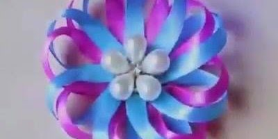 Flor Sofisticada para fazer presilha de cabelo, fica lindo!