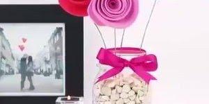 Flores feitas com EVA para enfeitar vasos, o resultado é lindo!