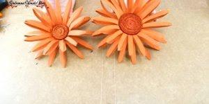 Flores feitas com rolinhos de papel higiênico, um belo artesanato!