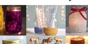 Ideias de artesanatos para reaproveitar potes de vidros que vem alimentos!