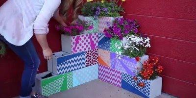 Jardim de inverno com blocos decorados, você vai se surpreender com o resultado!