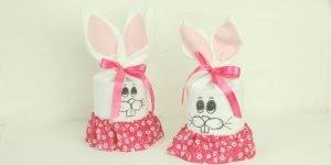 Lembrancinha para Pascoa feita com lata de leite em pó, olha só que lindinha!!!