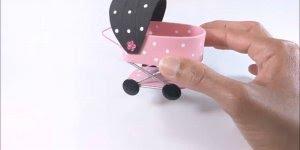 Mini carrinho de bebê para entregar em chás de bebês. confira o passo a passo!