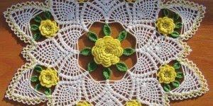 Modelos de Panos de Crochê redondos, perfeitos para decorar ambientes!