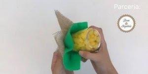 Objeto feito em artesanato para decorar sua festa junina - Espiga de Milho!