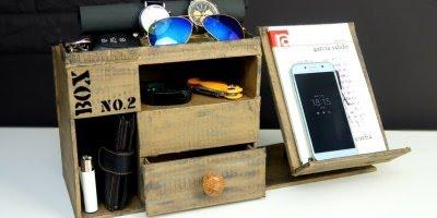 Organizador para escritório, uma ideia de artesanato legal para você fazer!