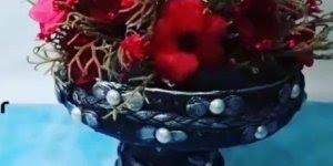 Peça decorativa de artesanato, muito fácil de fazer e fica lindo!