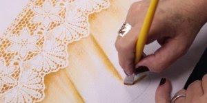 Pinturas em tecidos, perfeito para fazer em panos de cozinha!
