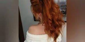 Resultado de um lindo penteado, para mulheres de cabelos longos!
