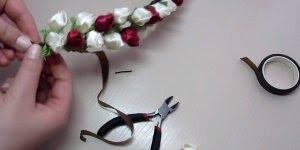Tiara com flores, um artesanato super lindo e meigo, confira!