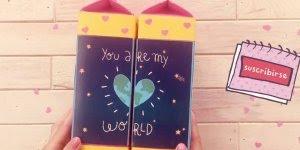 Transformando caixinhas de leite em um livro mágico com mensagens!