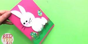 Tutorial de artesanato de cartão de coelhinho para páscoa!!!