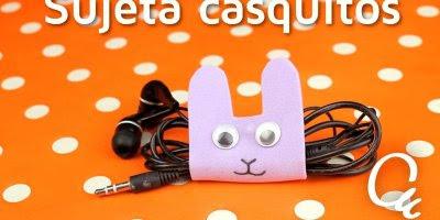 Tutorial de como fazer porta fones de ouvido de EVA, veja como fica lindinho!!!