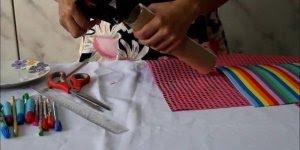 Tutorial de estojo feito a a partir de rolinho de papel toalha!!!