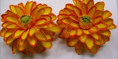 Tutorial de flor dália em EVA, olha só que lindas, perfeitas para decorar!!!