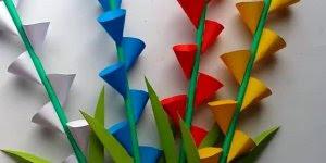 Tutorial de flores de papel para decorar sua casa, olha só que lindinhas!!!