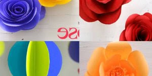 Vários modelos de flores de papel, basta escolher qual achou mais linda!