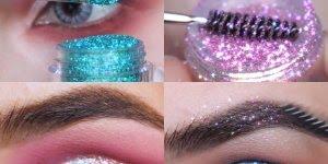 3 Tutoriais de maquiagens com sombras de Glitter, lindas!