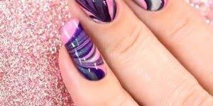 Como fazer as unhas marmorizadas com água gelada, muito fácil!