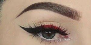 Delineado diferente - Vermelho, preto e detalhe brilhante!!!