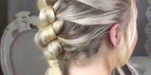 Esse tutorial de penteado é simplesmente lindo! Veja só como é fácil fazer!!!