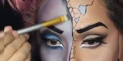 Halloween esta chegando, olha só que linda maquiagem pra o dia das Bruxas!!!