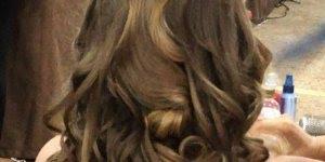 Inspiração de penteado solto com topete, e enrolado nas pontas!!!