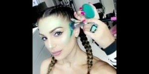 Maquiagem artística de sereia, olha só que trabalho lindíssimo!!!