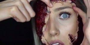 Maquiagem assustadora para Halloween, impossível não fazer sucesso com ela!