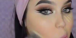 Maquiagem com delineado duplo, olha só que perfeita esta make!!!