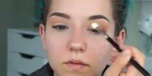 Maquiagem com sombra marrom e batom nude, uma combinação mais que perfeita!!!!