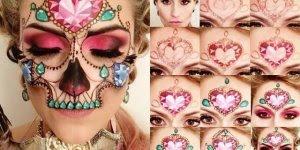 Maquiagem de caveira mexicana maravilhosa, impossível não se apaixonar!!!