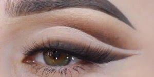 Maquiagem para o dia a dia com cílios postiços e delineado marrom!