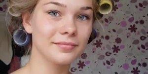 Maquiagem simples e bonita para loira, que linda ela ficou!
