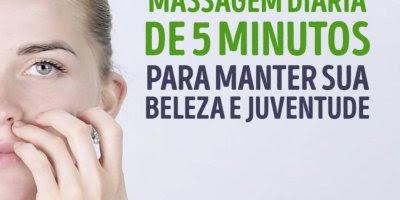 Massagem diária para manter sua beleza e juventude, para fazer em 5 minutos!