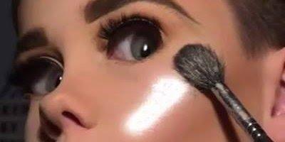 Menino maquiador famoso na internet, veja mais um de seus trabalhos!