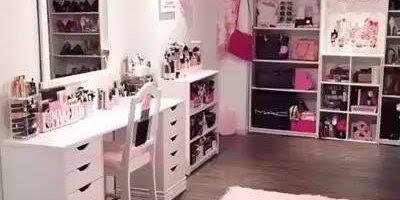 O quarto que é sonho de toda menina vaidosa, tem de tudo que imagina!