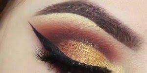 Olho com sombra dourada, o resultado é maravilhoso, confira!