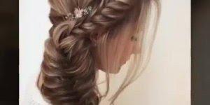 Penteado lindo feito com trança, vale a pena conferir, simplesmente perfeito!!!