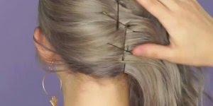 Penteado moderno para fazer no seu cabelo, muito fácil e lindo resultado!