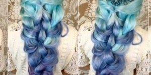Penteado para cabelos longos e coloridos, o resultado é sensacional!