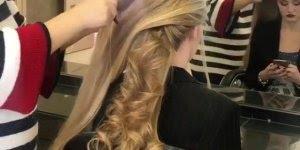 Penteado preso e enrolado para cabelos longos, que cabelo maravilhoso é esse!