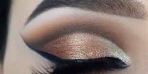 Que efeito mais lindo essa maquiagem fez nos olhos desta moça!!