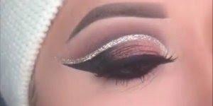 Sombra com contorno de Glitter, olha só que técnica maravilhosa!!!