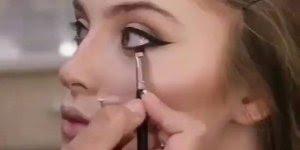 Transformação com maquiagem, olha só que make linda,perfeita!!!