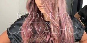 Transformação de cabelo,olha só que cor maravilhosa, impossível não se apaixonar