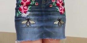 Tutorial de como como transformar uma calça jeans velha em uma linda saia!!!