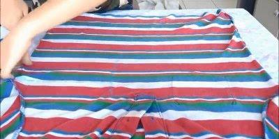 Tutorial de como transformar uma camiseta masculina em shorts!!!