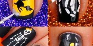 Tutorial de decoração de unhas para o Halloween, olha só que coisa mais linda!!!